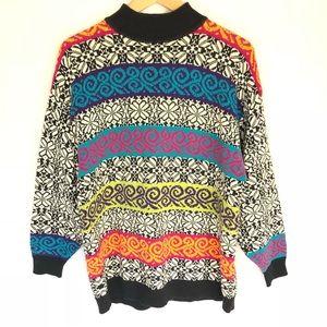 Vintage High Neck Pullover Sweater 1 Large